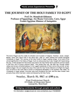 EGYPT: THE JOURNEY of the HOLY FAMILY IN EYPGT - Annapolis, Maryland