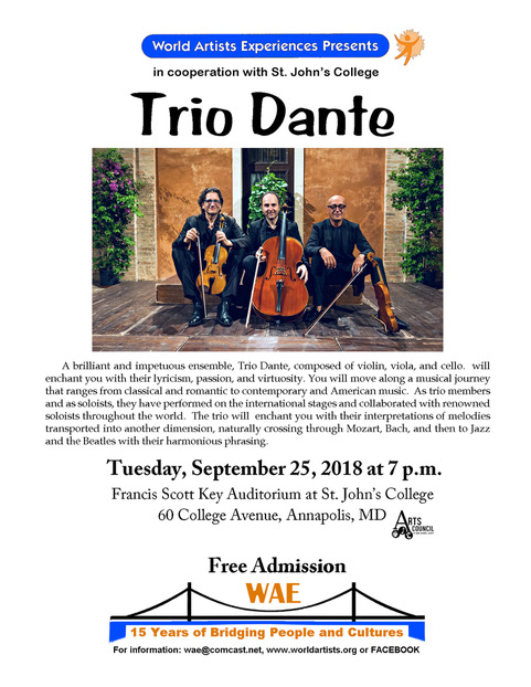 Italy Trio Dante Flyer St. Johns College 9 25 2018 1